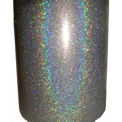 Liquid Diamonds Silver Holographic