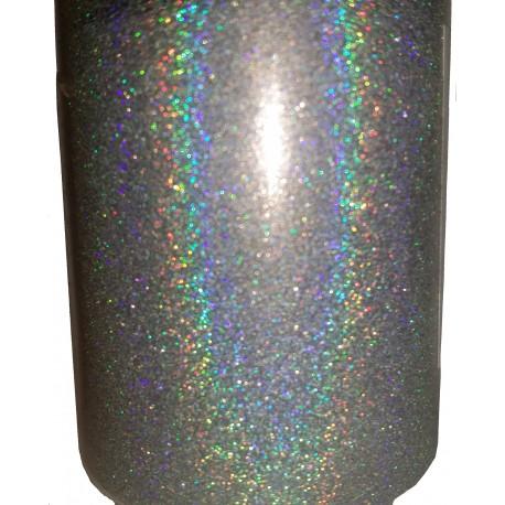 Liquid Diamonds Silver Holographic