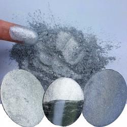 Liquid Diamonds Silver Metallic Chrome